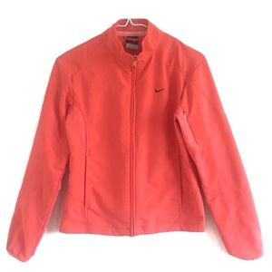 Nike Sphere Athletic Zip Up Jacket Coral Small